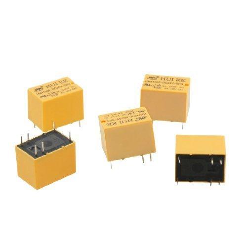 sourcingmap® 5Stück DC 24V Coil SPDT 6Pin Mini Power Relais PCB Typ hk4100F-24vdc-shg