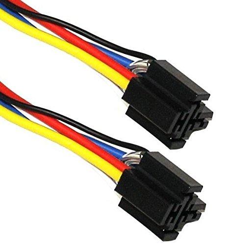 Aerzetix – 2 Steckverbinder für Relais 4 oder 5 Pins Pins 12V/24V