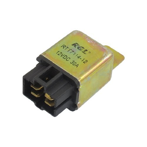 Dimart DC 12V 30A NO 4 Pins 6mm Mounting Hole 4 Pins Socket