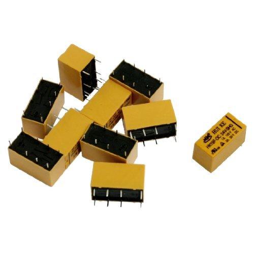 10 Pieces DC 24V Coil 1A / 125VAC 2A / 30VDC 8 Pins PCB power relais HK19F