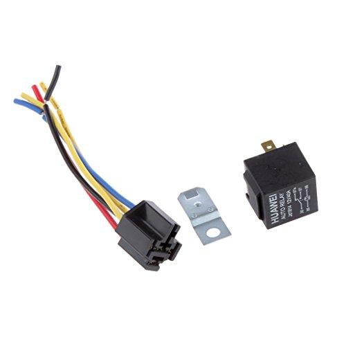 MagiDeal 12V 40A Auto Motor Relaissockel Relais Sockel Basis relay socket Crimp Schwarz