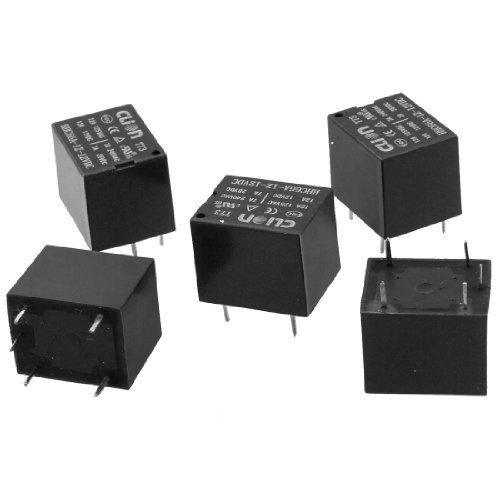 5 x DC 12V Coil SPDT 5 Pin 1NO 1NC Mini Leistungsrelais PCB Typ HHC66A-1Z (T73)
