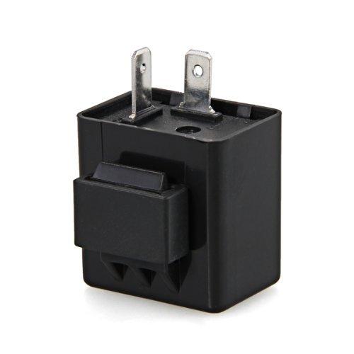 SODIAL (R) Blinker-Relais 12V 2 Pin fuer Motorrad LED-Anzeigelampe