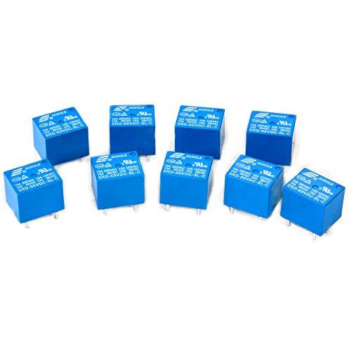 SONGLE 10stk 5V Mini Relais SPDT 10A PCB Halterung 5-Pins
