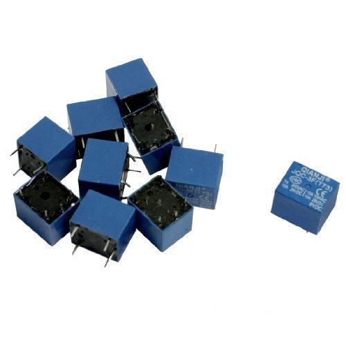sourcingmap® 10 Stk DC 9V Spulen 10A SPST 5-polig Elektromagnetischen Relais PCB Typ JQC-3F