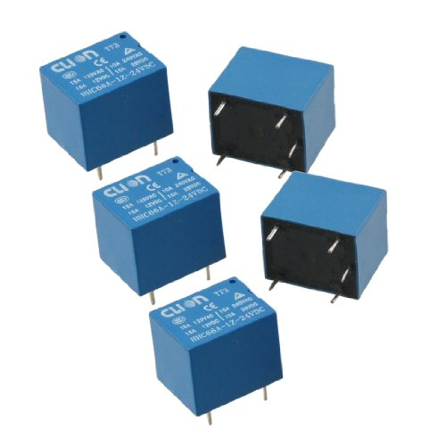 5 Stück DC 24V Coil SPDT 5 Pin Mini Strom Relais PCB Typ HHC66A-1Z-24VDC de