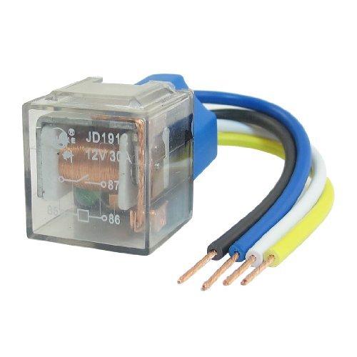 Autoalarm SPST 15mm Rail Relay Socket 4 Pin 4 Kabel-30A 12V DC JD2912