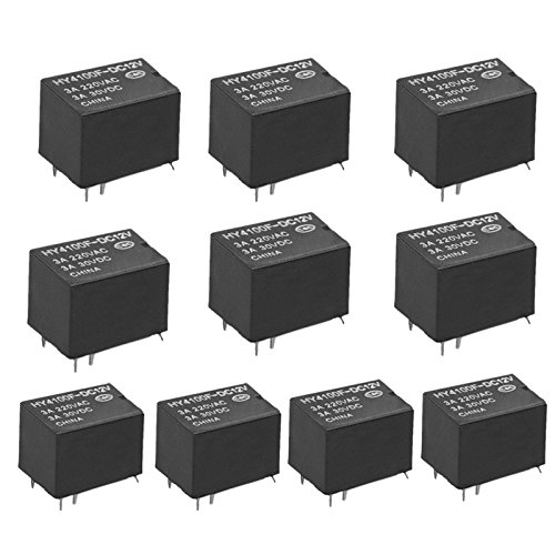 SODIAL(R) 10 Stk. Mini elektronisches Relais DC12V