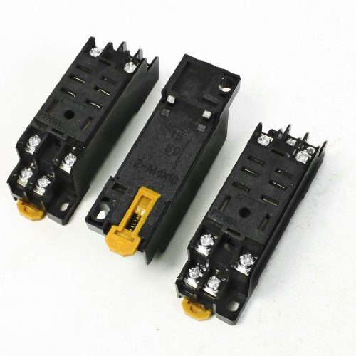 3PCS Hutschienen-Kunststoff Relay Socket Base-Halter für 8Pin Relay