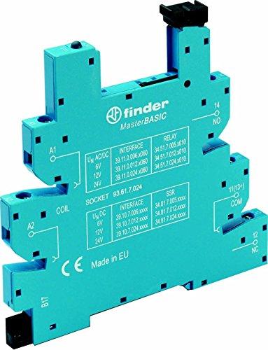 Finder Relaissockel mit Haltebügel, mit LED, mit EMV-Entstörbeschaltung 93.61.7.024
