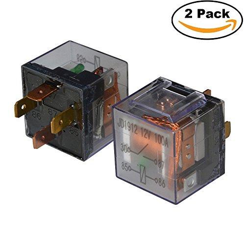 Ehdis® DC 12V 100A 1NO SPST 4 Pin Relais Heavy Duty, Packung mit 2 Stück