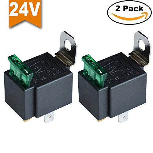 Ehdis® Fused Relais Ein / Aus-24V 30A Automotive 4-Pin Sockel SPST, 2er-Pack
