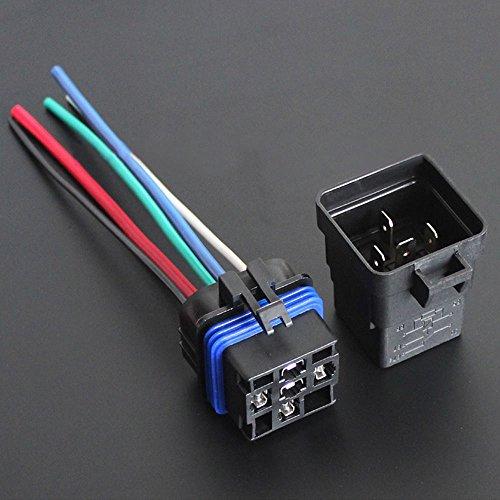 Generic 2 Stk KFZ Relais Relaissockel 12V 40A SPDT 5 Pin