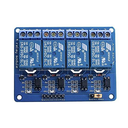 Elegoo 4 Kanal DC 5V Relaismodul mit Optokoppler für Arduino UNO R3 MEGA 2560 1280 DSP ARM PIC AVR STM32