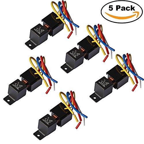 Ehdis® [5 Packung] Heavy Duty 5-Pin 80A 12V Ein / Aus Normal Offen SPDT