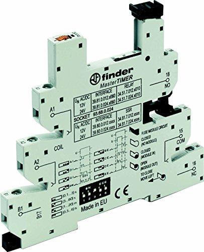 Finder Relaissockel mit Haltebügel, mit LED, mit EMV-Entstörbeschaltung 93.68.0.024