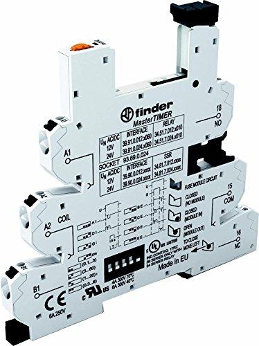 Finder Relaissockel mit Haltebügel, mit LED, mit EMV-Entstörbeschaltung 93.69.0.024