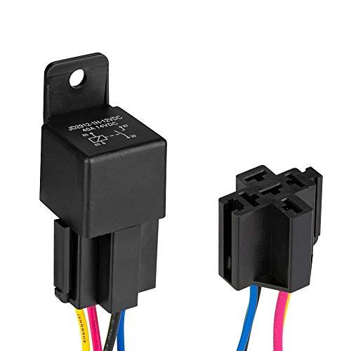 Jtron Kfz-Relais-Kabelsatz 12V 40A 4-Pin SPDT